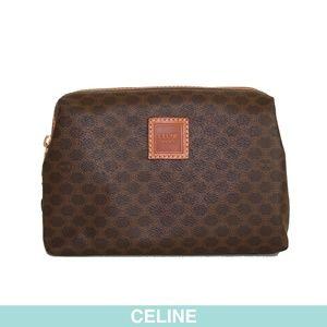 Céline Blason dessin brown pouch